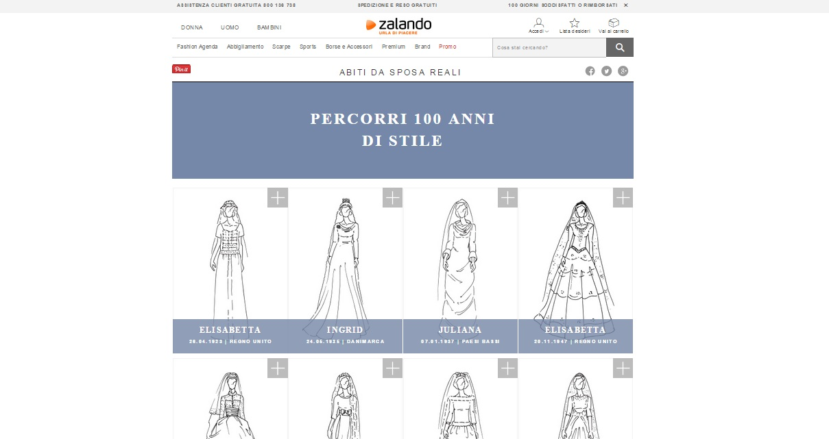 Real Wedding 100 anni di storia in abiti da sposa su Zalando