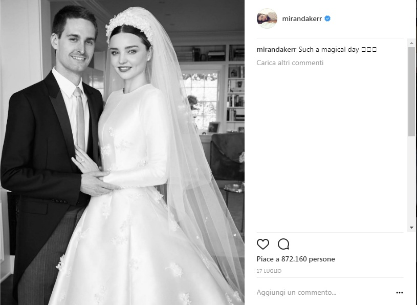 Miranda Kerr sposa come Grace Kelly