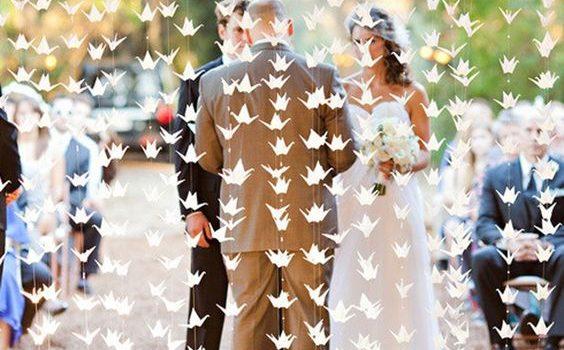 Tutorial decorazioni matrimonio origami