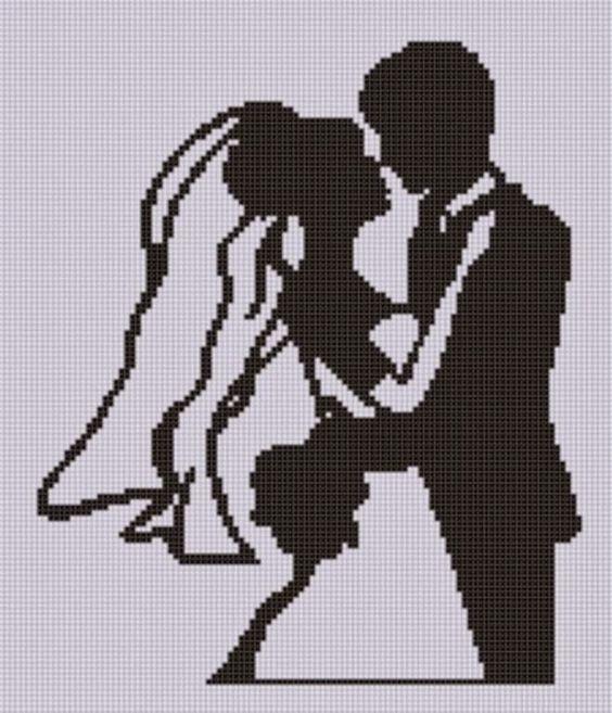 Matrimonio Punto A Croce Idee Schemi E Tutorial15 Sposa Felice