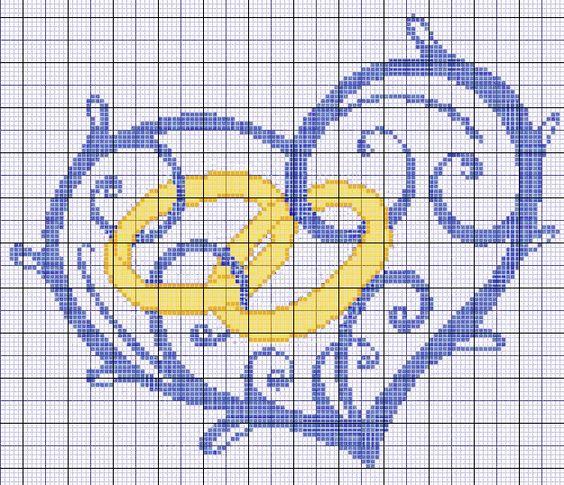 Bomboniere Matrimonio Punto Croce Schemi.Matrimonio Punto A Croce Idee Schemi E Tutorial 8 Sposa Felice