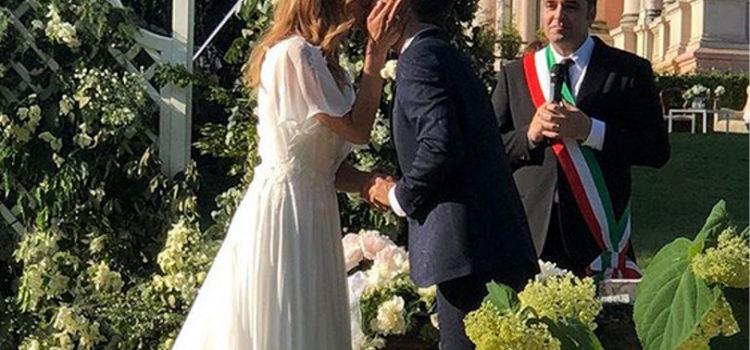Daniele Bossare e Filippa Lagerback sposi