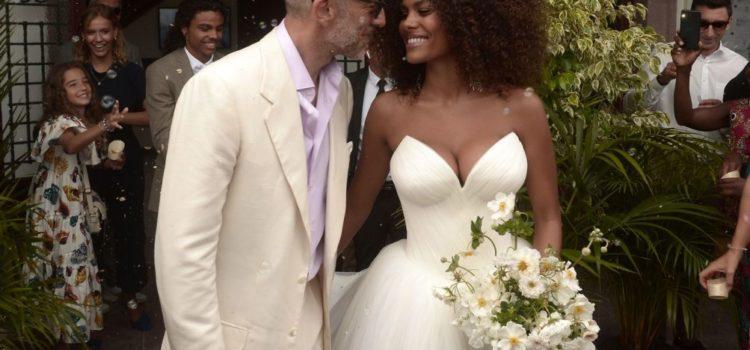 Vincent Cassel sposa Tina Kunakey a Bidard in Francia