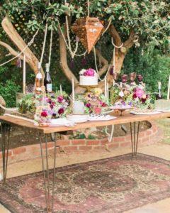 decorazioni floreali matrimonio boho chic 28