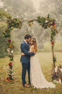 decorazioni floreali matrimonio boho chic 30