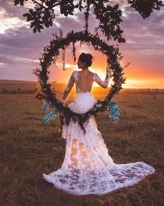 decorazioni floreali matrimonio boho chic 32