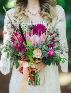 decorazioni floreali matrimonio boho chic 5
