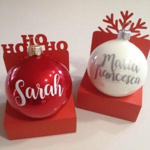 Palline di Natale personalizzate segnaposto bomboniera regalo 2