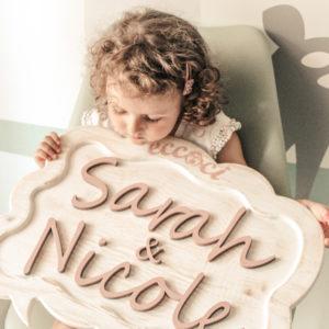Babynamecool targhetta in legno fatta a mano con il nome del tuo bambino 1