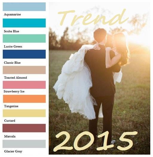 Colori matrimonio tendenze 2015