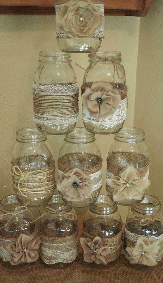 10 Tutorial come decorare barattoli in vetro