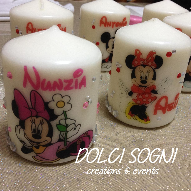 Candele personalizzate Disney