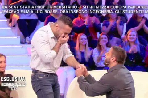 Ruggero Freddi matrimonio in diretta a Pomeriggio Cinque