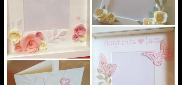 Fiori di carta cornici personalizzate handmade