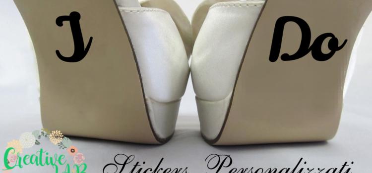 Adesivi personalizzati scarpe sposa e sposo