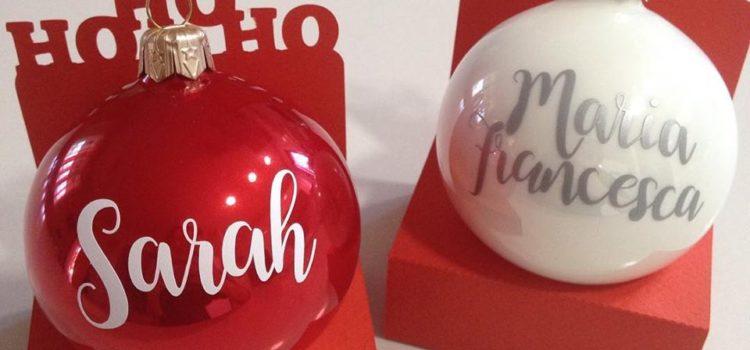 Palline di Natale personalizzate segnaposto bomboniera regalo